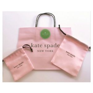 AUTH. Kate Spade ♠️ Gift Bag/2 Dust Bags+1 Sticker